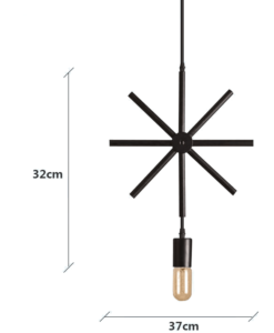 Φωτιστικό 1/φωτο Star Black - Industrial Lighting